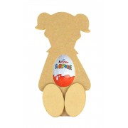 18mm Freestanding Girl Kinder Egg Holder with 3D Feet