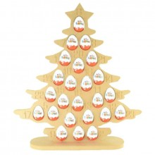 Super sized 18mm Freestanding Christmas Kinder Egg Tree Advent Calendar - CHRISTMAS TREE