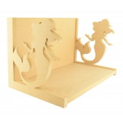 Routered 18mm MDF Quality Flat packed Mermaid Book Shelf