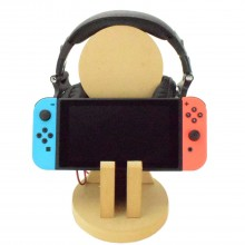 18mm Freestanding MDF Gaming Headset & Nintendo Switch Single Holder Stand