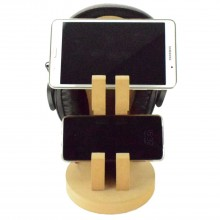 18mm Freestanding MDF Tablet & Phone Double Holder Stand