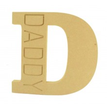 18mm Freestanding Router Engraved Letter D for Dad - Daddy