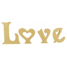 18mm Freestanding LOVE Single Letters Set