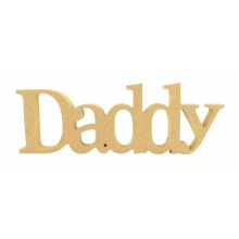 18mm Freestanding MDF 'Daddy' Small Joined Word - BT