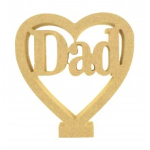 18mm Freestanding MDF 'Dad' Mini Heart