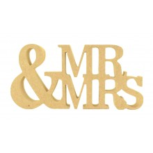 18mm Freestanding MDF 'Mr & Mrs' Small Sign - BT