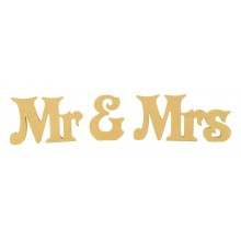 18mm Freestanding MDF Mr & Mrs Wording - Longden