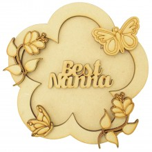 Laser Cut Personalised 3D Flower Shape Sign - Butterfly Themed