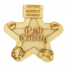 Laser Cut Personalised 3D Star Shape Sign - Gaming Themed