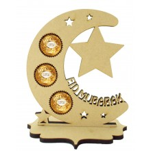 6mm 'Eid Mubarak' Moon Ferrero Rocher Holder on a Stand