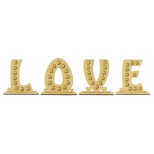 6mm 'LOVE' Letter Set Ferrero Rocher Confectionery Holder