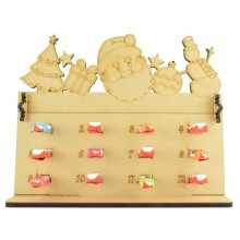 6mm Kinder Chocolate Bars Holder 12 Days of Christmas Advent Calendar with Christmas Shapes Topper