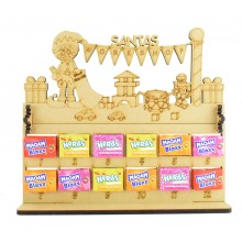 6mm Maoam Bloxx & Nerds Candy Sweets Holder 12 Days of Christmas Advent Calendar with 'Santas Workshop' Elf Boy Topper