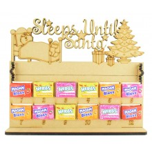 6mm Maoam Bloxx & Nerds Candy Sweets Holder 12 Days of Christmas Advent Calendar with 'Sleeps Until Santa' Topper