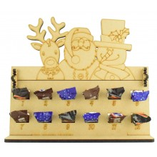 6mm Mars, Snickers and Milkyway Chocolate Bars Funsize Minis Holder 12 Days of Christmas Advent Calendar with Rudolph, Santa & Snowman Topper