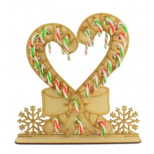 3mm Candy Cane Heart with Bow Candy Cane Holder Advent Calendar