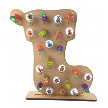 3mm Stocking Lolly Pop Holder Advent Calendar