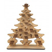 6mm Christmas Tree Pedigree Dog Treats Holder Advent Calendar