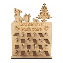 6mm 'Countdown to Christmas' Plaque Pedigree Dog Treats Holder Advent Calendar