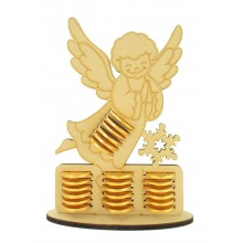 6mm Angel Chocolate Coin Holder Advent Calendar