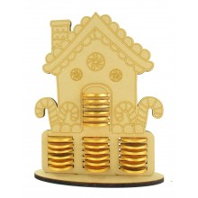 6mm Gingerbread House Chocolate Coin Holder Advent Calendar