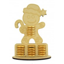 6mm Gingerbread Man Chocolate Coin Holder Advent Calendar
