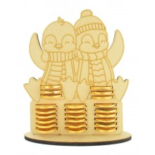6mm Cute Penguins Chocolate Coin Holder Advent Calendar