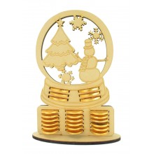 6mm Snowglobe Chocolate Coin Holder Advent Calendar