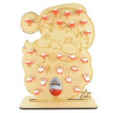 6mm Kinder Chocolate Bars & Kinder Egg Holder Advent Calendar - Santa Head