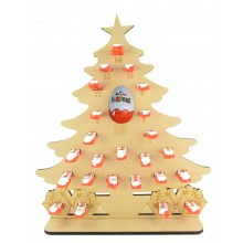 6mm Kinder Chocolate Bars & Kinder Egg Holder Advent Calendar - Christmas Tree