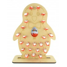 6mm Kinder Chocolate Bars & Kinder Egg Holder Advent Calendar - Boy Penguin