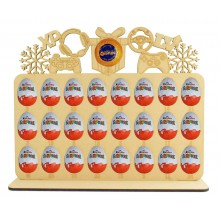 6mm Gaming Shapes Plaque Chocolate Orange & Kinder Egg Holder Advent Calendar on a Stand