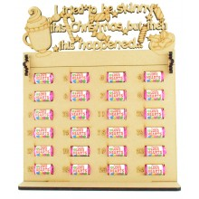 6mm Swizzels Mini Love Hearts Sweets Holder Advent Calendar with 'I tried to be skinny this Christmas but then this happened...' Topper (Design 1)