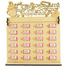 6mm Swizzels Mini Love Hearts Sweets Holder Advent Calendar with 'I tried to be skinny but then Christmas happened' Topper (Design 2)