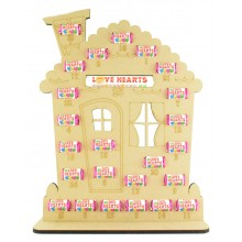 6mm Swizzels Mini Love Hearts Sweets Holder Advent Calendar - Gingerbread House