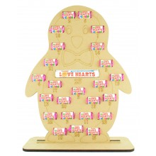 6mm Swizzels Mini Love Hearts Sweets Holder Advent Calendar - Boy Penguin