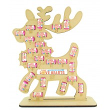 6mm Swizzels Mini Love Hearts Sweets Holder Advent Calendar - Reindeer