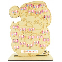 6mm Swizzels Mini Love Hearts Sweets Holder Advent Calendar - Santa Head