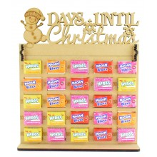 6mm Maoam Bloxx & Nerds Candy Sweets Holder Advent Calendar with 'Days Until Christmas' Snowman Topper