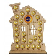 4mm Oak Veneer Gingerbread House Chocolate Orange and Ferrero Rocher Holder Advent Calendar