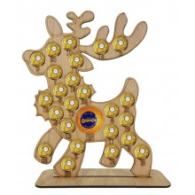 4mm Oak Veneer Reindeer Chocolate Orange and Ferrero Rocher Holder Advent Calendar