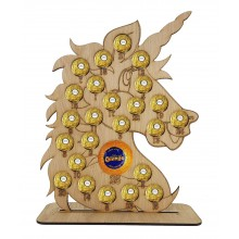 4mm Oak Veneer Unicorn Chocolate Orange and Ferrero Rocher Holder Advent Calendar