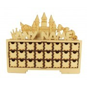 Laser Cut Personalised Christmas Rectangle 24 Drawer Advent Calendar Drawers with Princess Shapes