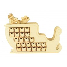 Laser Cut 3D Santa Sleigh Christmas Advent Calendar with Personalised Santa Sack and Presents on Top - Options