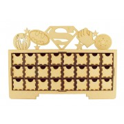 Laser Cut Christmas Rectangle 24 Drawer Advent Calendar Drawers with Superhero Logos