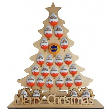 6mm Christmas Tree Chocolate Orange & Kinder Egg Holder Advent Calendar on a Stand