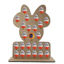 6mm Mouse Head with Bow Chocolate Orange & Kinder Egg Holder Advent Calendar on a Stand