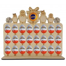 6mm Penguin Family Plaque Chocolate Orange & Kinder Egg Holder Advent Calendar on a Stand - Options
