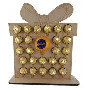 6mm Present Chocolate Orange and Ferrero Rocher Holder Advent Calendar