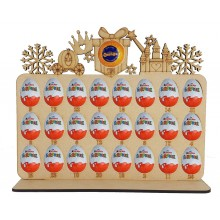 6mm Princess Shapes Plaque Chocolate Orange & Kinder Egg Holder Advent Calendar on a Stand